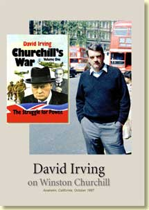 DVD: David Irving on Winston Churchill DVD (110 mins).